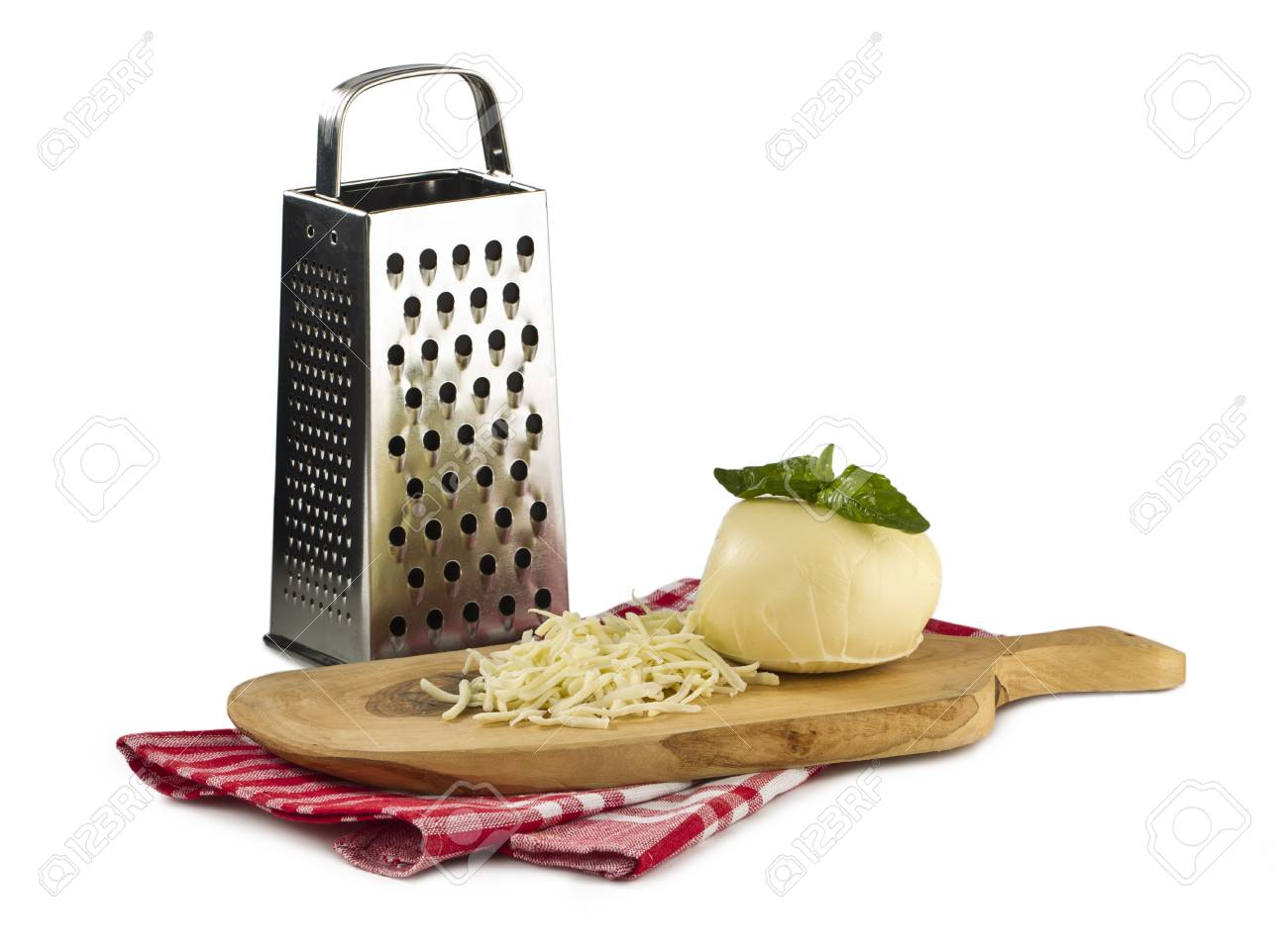 Image of Grated cheese on wooden board Stock Photo - 16225765