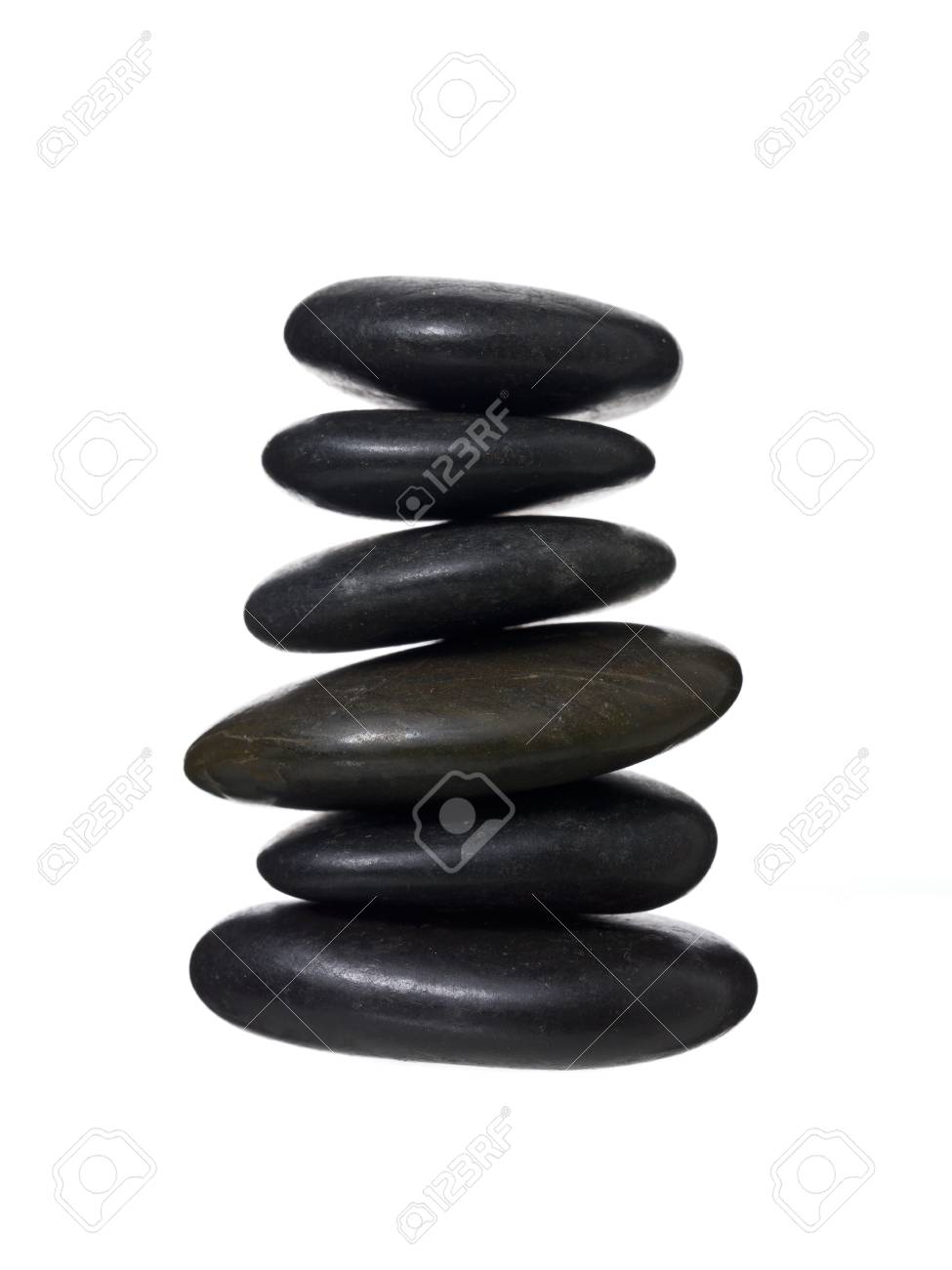 Close up image of spa stones against white background Stock Photo - 16963356