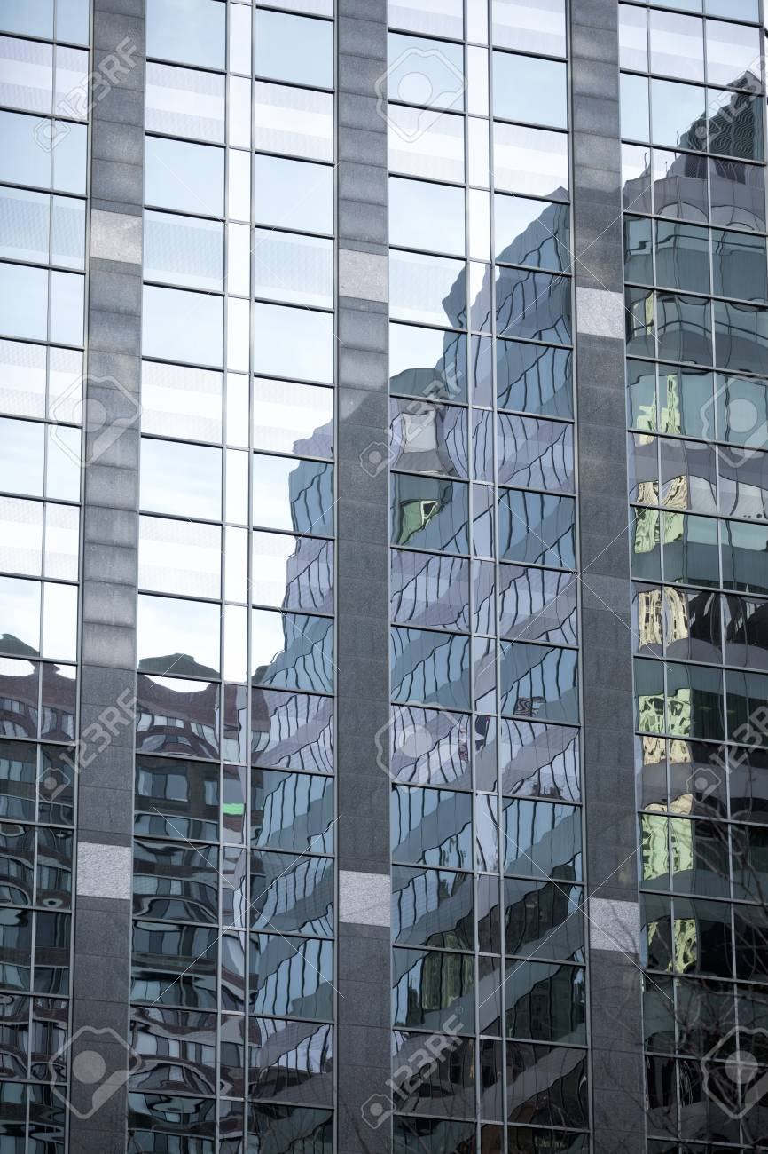 Full frame reflection on the glass of an office building Stock Photo - 16977525