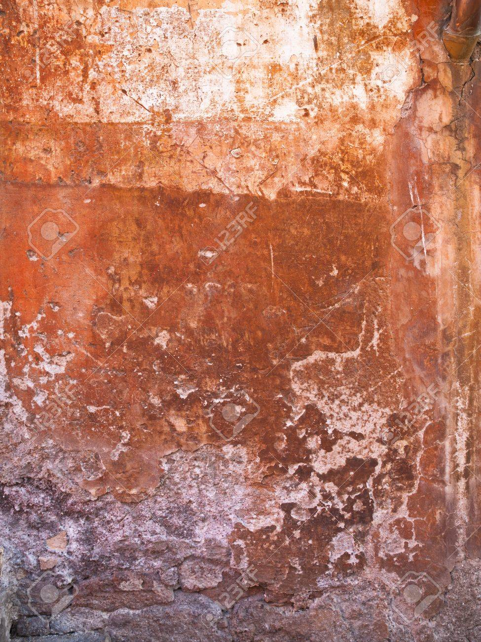 A wall with paint rubbed and chipped off Stock Photo - 17112144