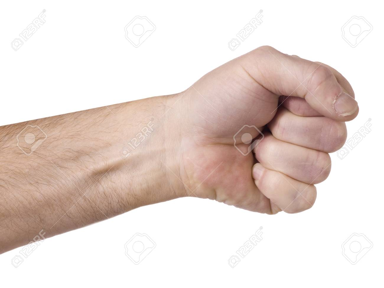 Close up image of a hand sign against white background Stock Photo - 17135078