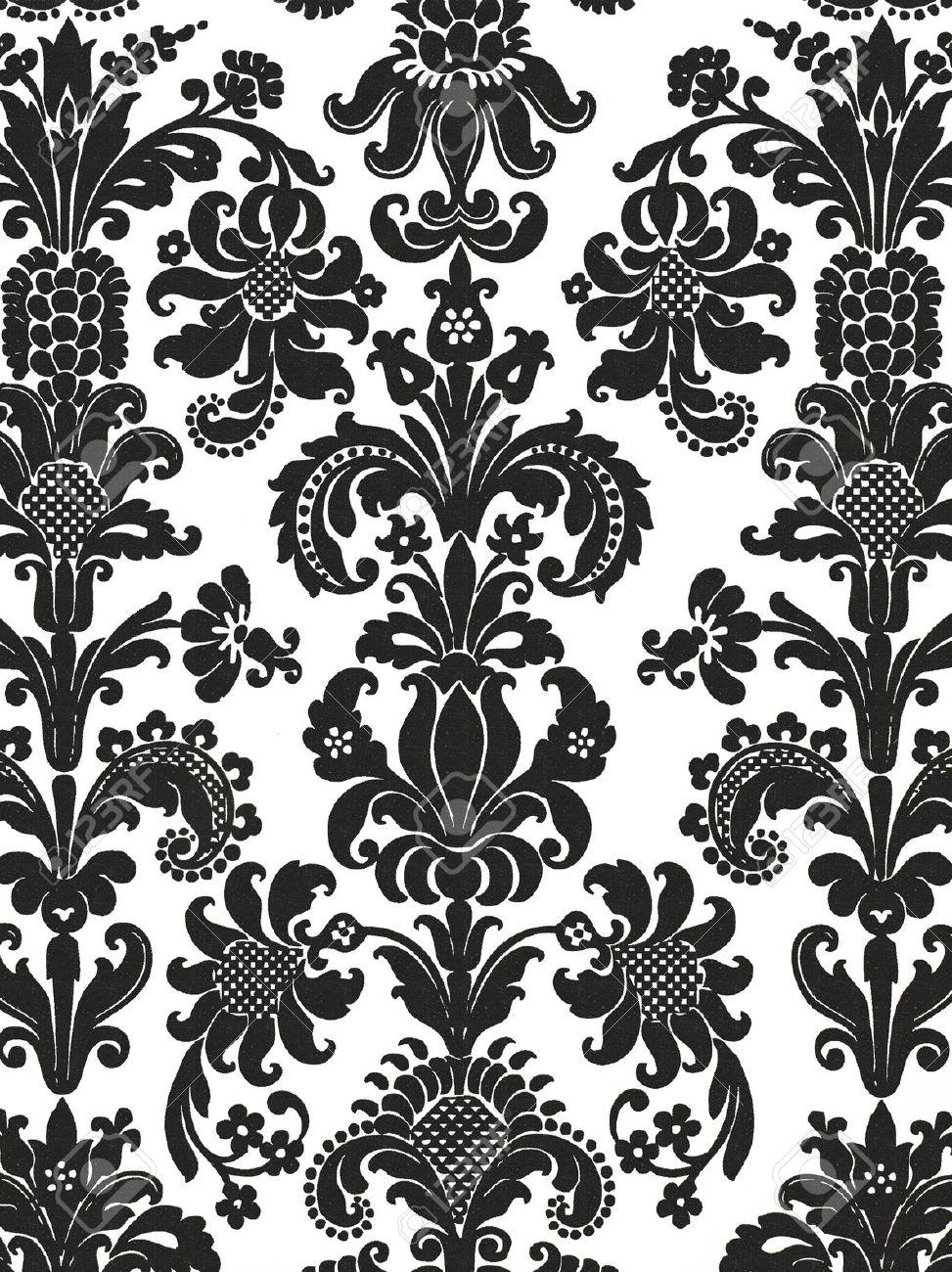 Carta Da Parati Floreale Bianco E Nero.Immagini Stock Carta Da Parati In Bianco E Nero Senza Soluzione
