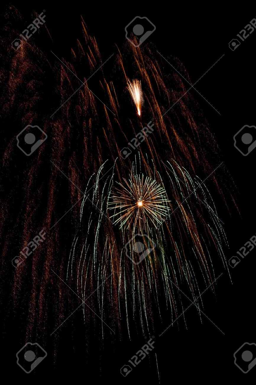 Closeup of fireworks Stock Photo - 17148250