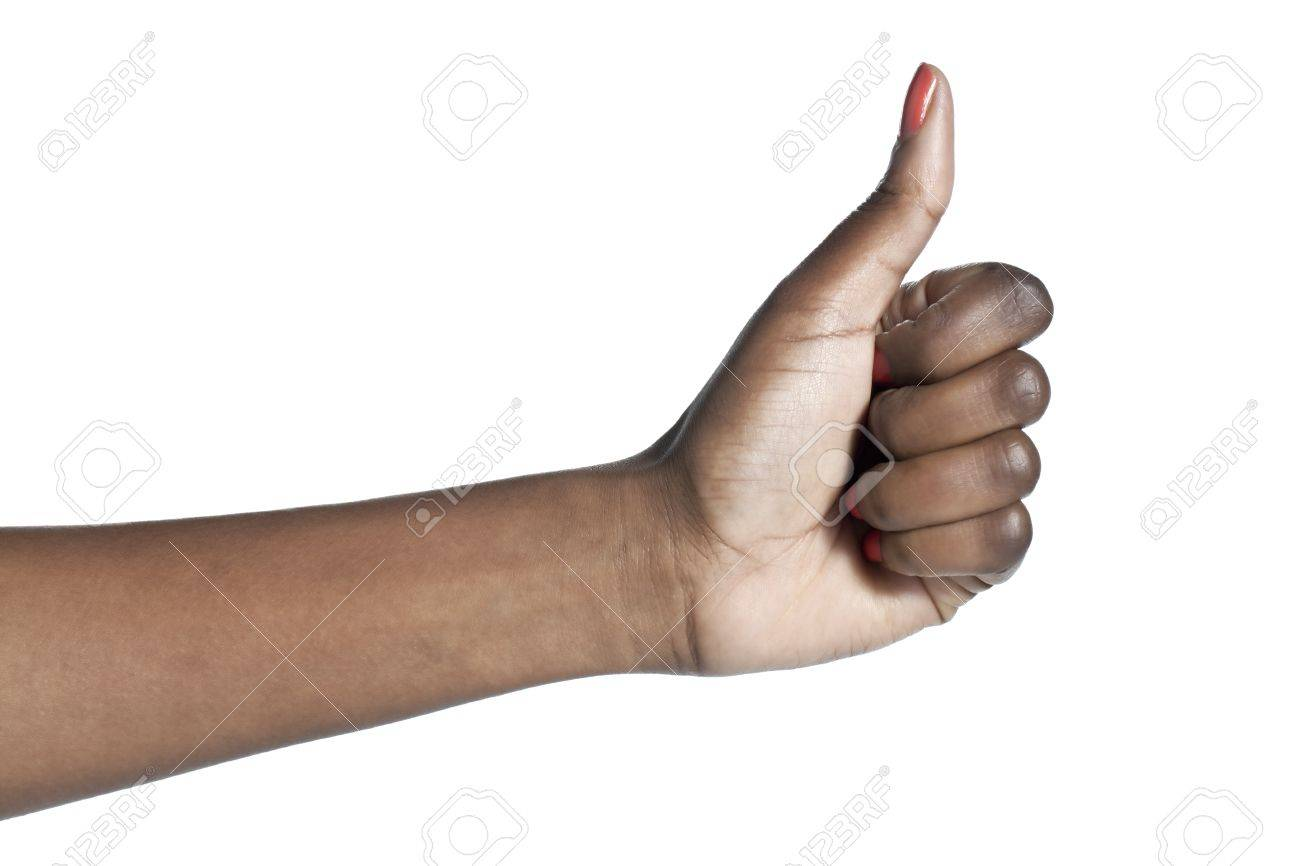 Close-up image of a human hand with an approved gesture over the white surface Stock Photo - 17151652