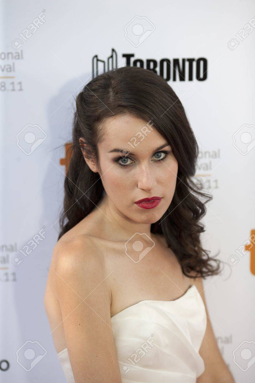 Samantha Friedman walks the red carpet at the 2011 Toronto International Film Festival on her way to the screening of Moneyball Stock Photo - 17202138