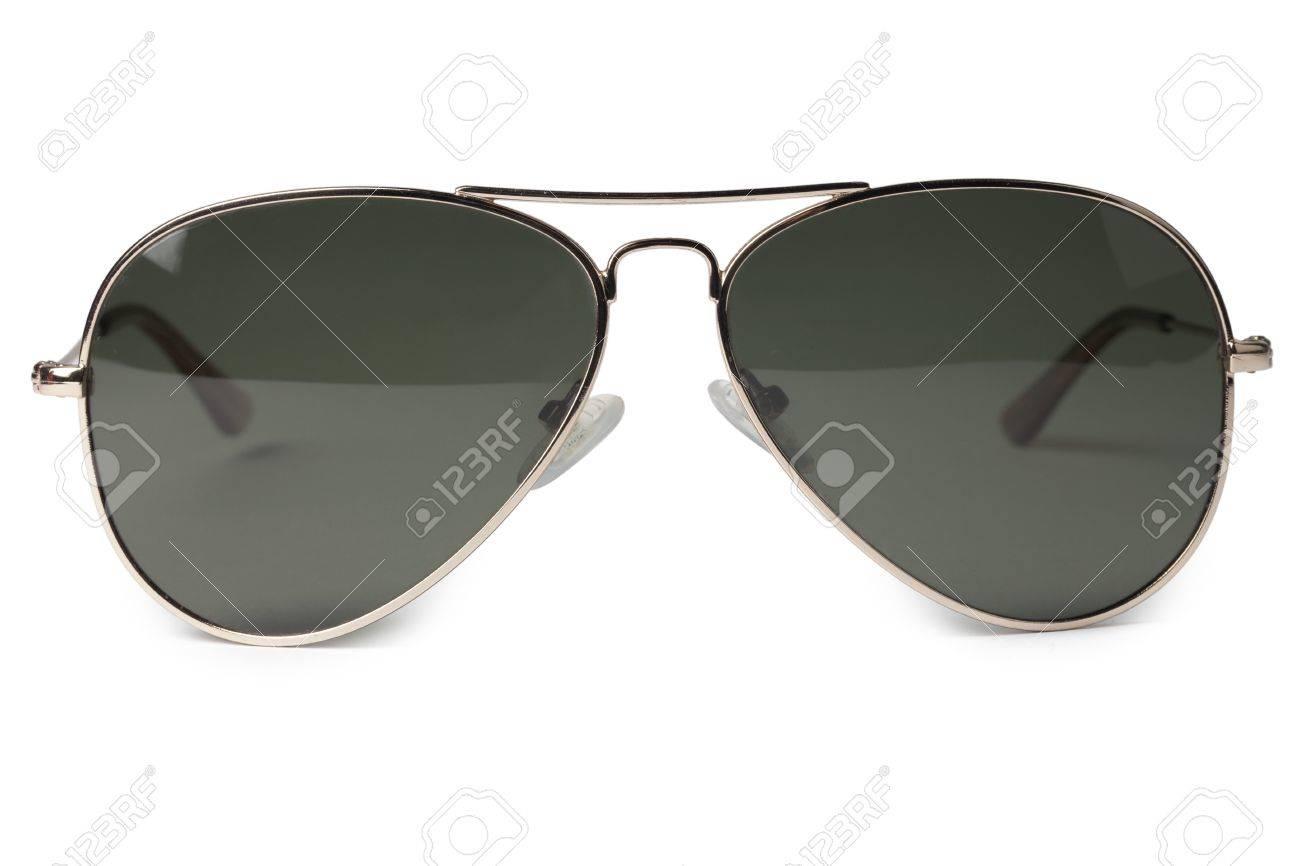 227c80c5718f60 Close-up beeld van een donkere zonnebril geïsoleerd in een witte ondergrond  Stockfoto - 17185930