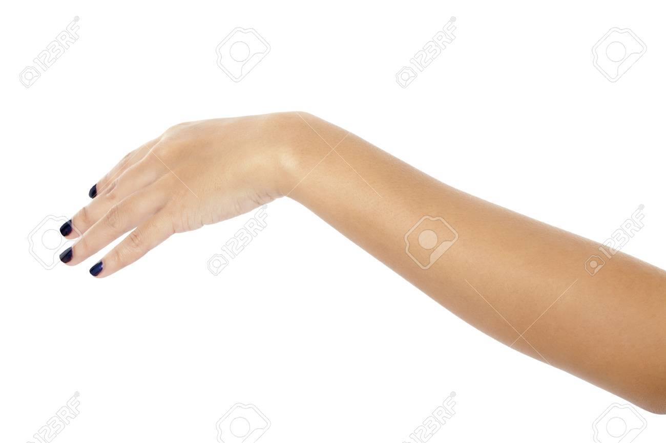 Isolated image of a woman's arm over a white background Stock Photo - 17185760