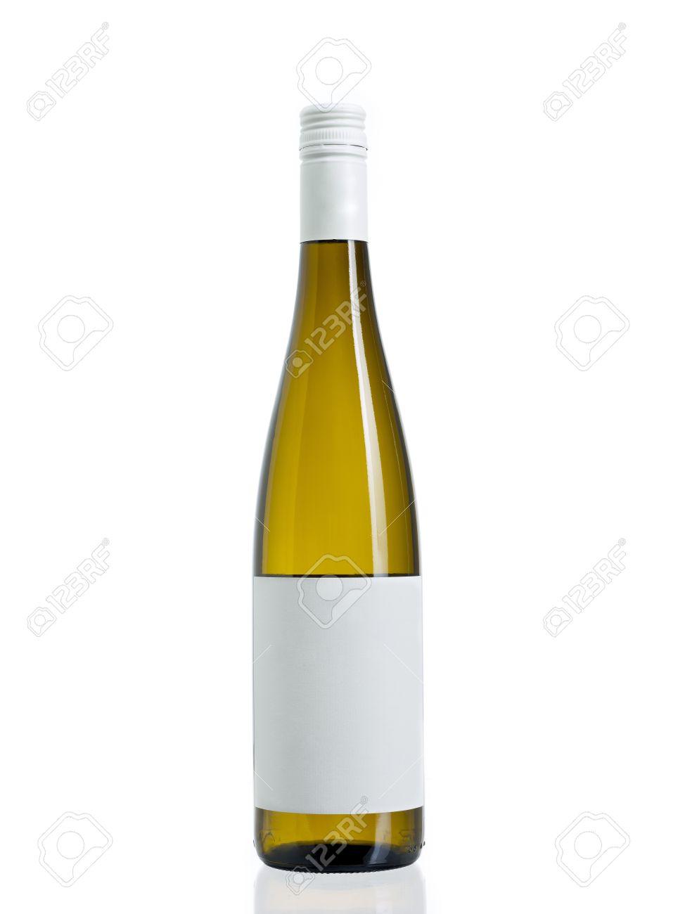 Photo De Vin Une Bouteille De Vin Scell E Avec Une Tiquette Vierge