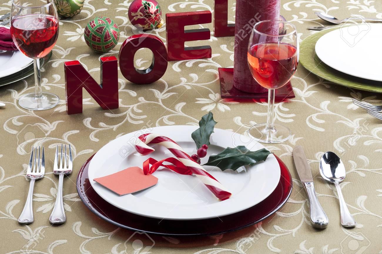 Image of christmas table setting Stock Photo - 17230577