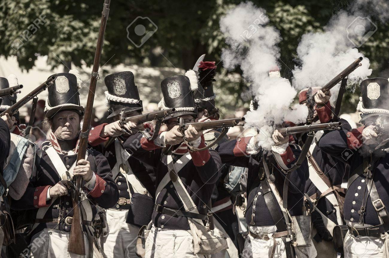 アメリカとカナダの 1812年再現の戦争 の写真素材・画像素材 Image ...