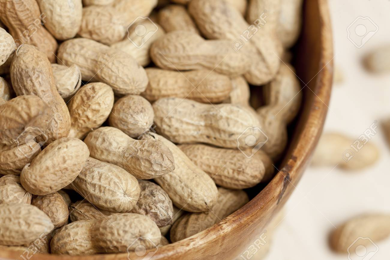 Close up image of peanuts on bowl Stock Photo - 17258398