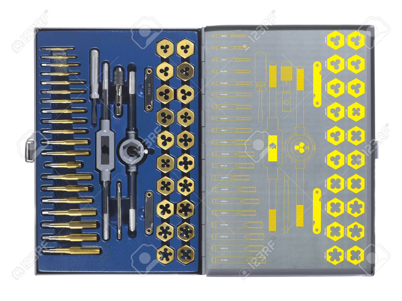 Close-up image of toolkit displayed on white. Stock Photo - 17258437