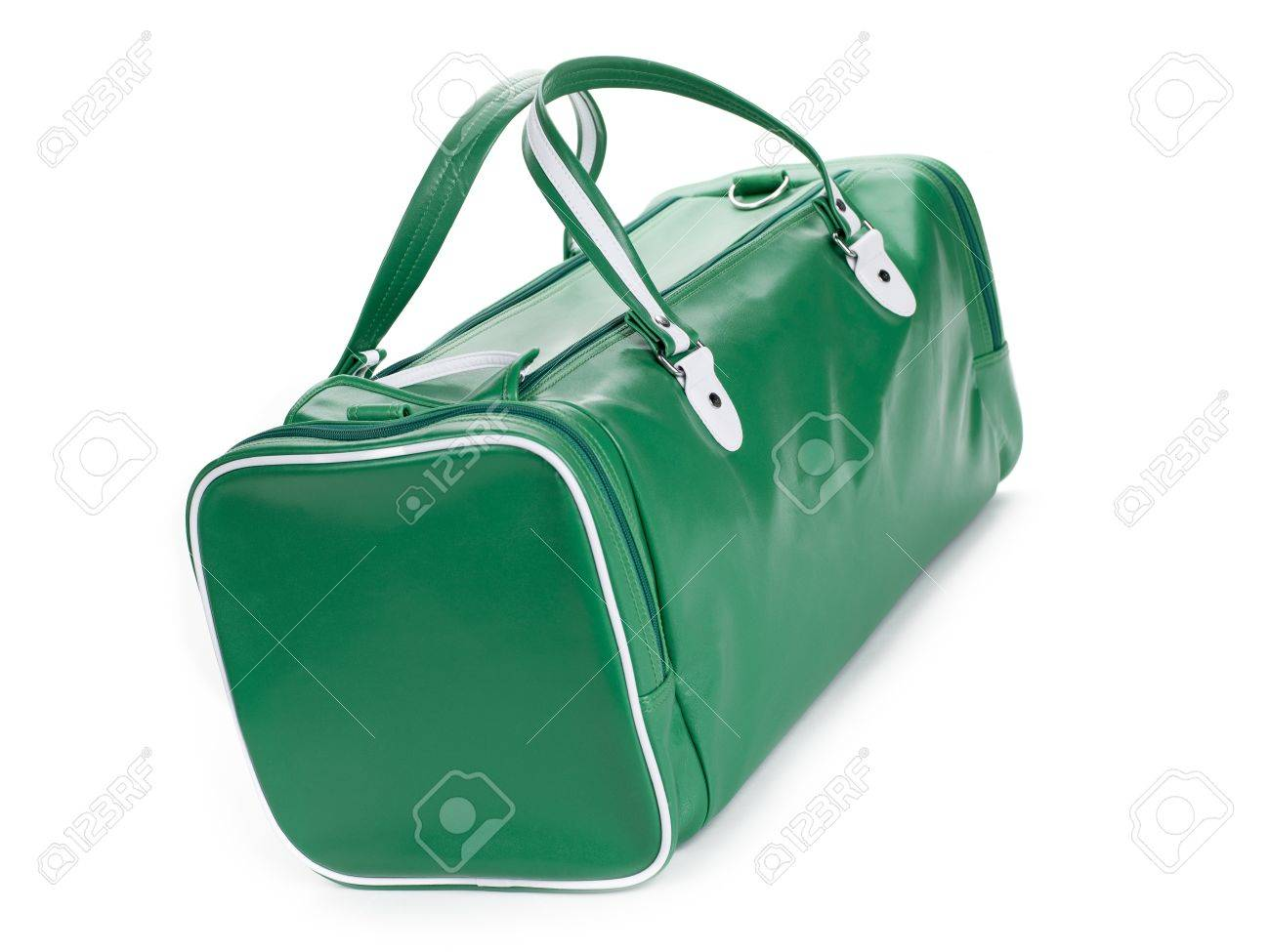 A green gym bag angled on a white background Stock Photo - 17339589 5d97a70eb