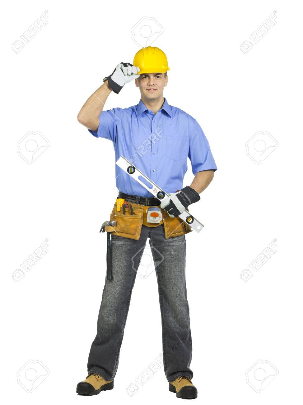 Unhappy Construction Worker Construction Worker Wearing