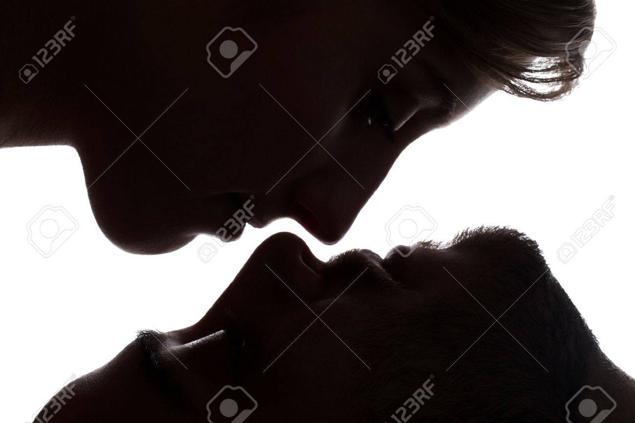 Close-up shot to the sensual couple about to kiss each other Stock Photo - 17377056