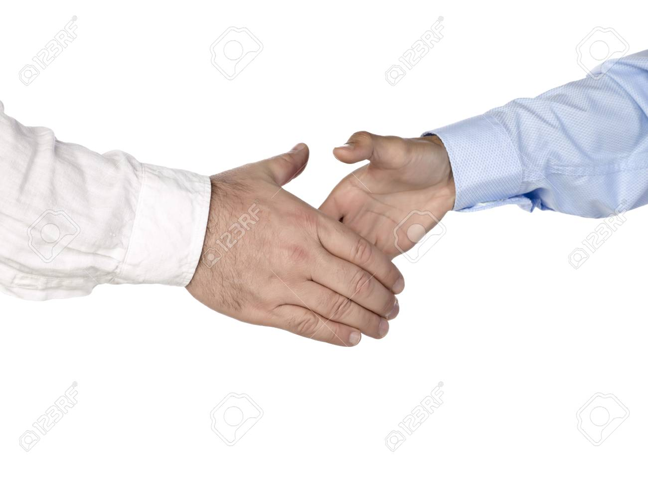 Business handshake of two businessmen over the white background Stock Photo - 17493172