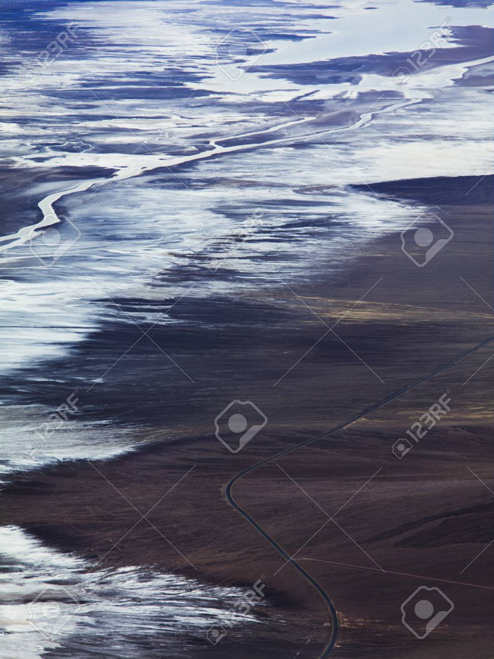 Early morning view of Death Valley producing a blue hue in the salt flats. Stock Photo - 17488648