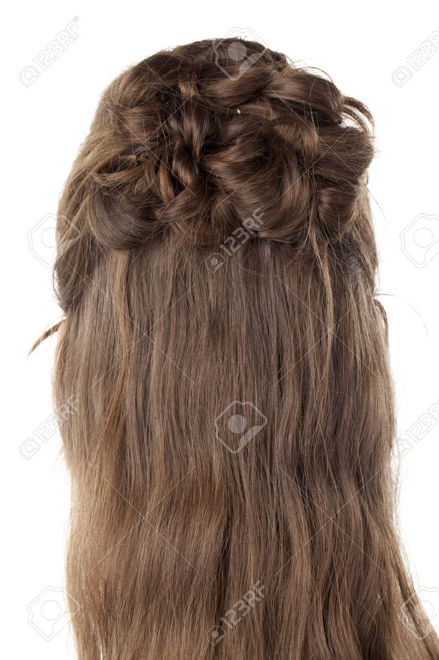 Prime Rear View Image Of Woman39S Hair With Creative Braid Hairstyles Short Hairstyles Gunalazisus