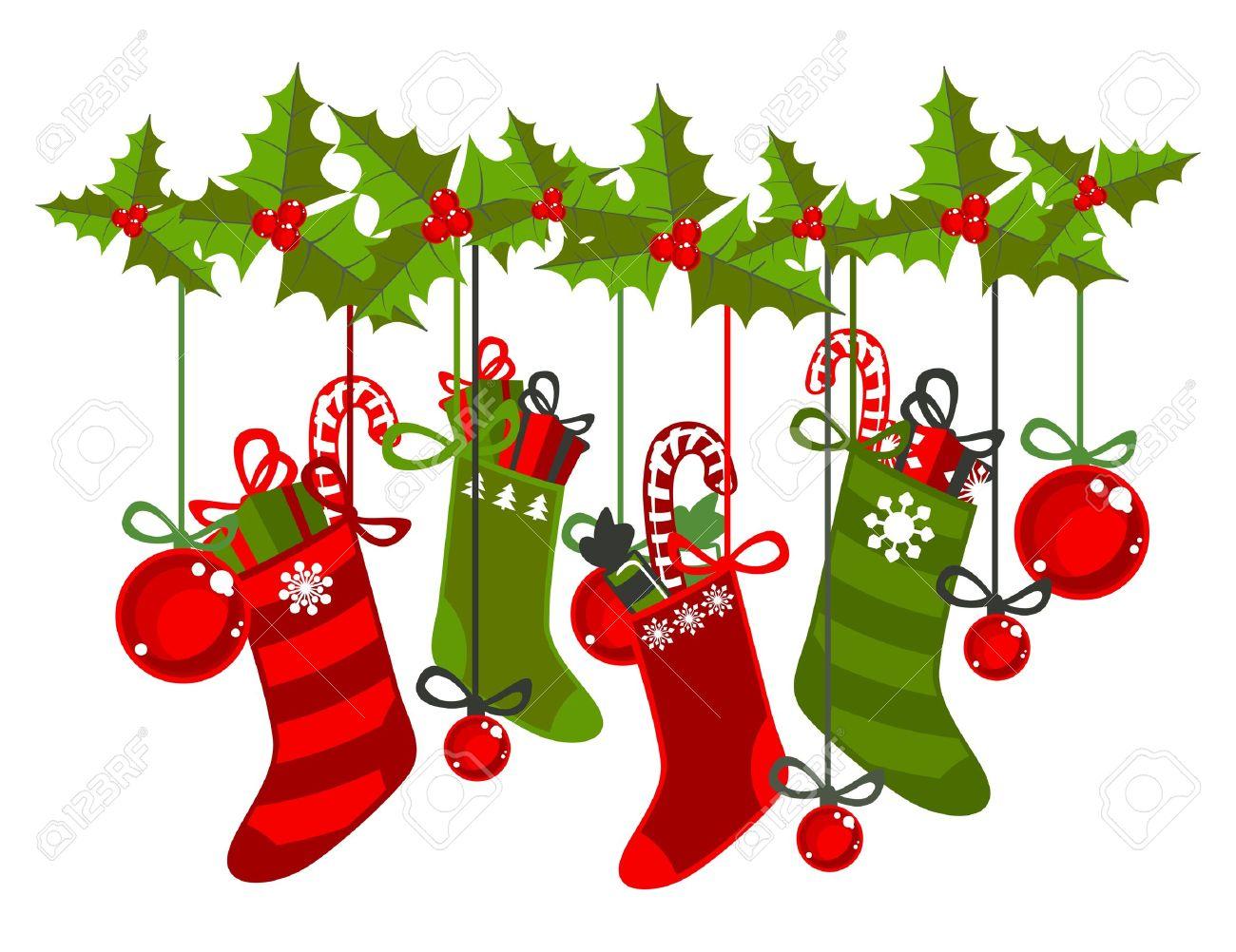 Fein Weihnachtsstrumpf Clipart Bilder - Weihnachtsbilder ...