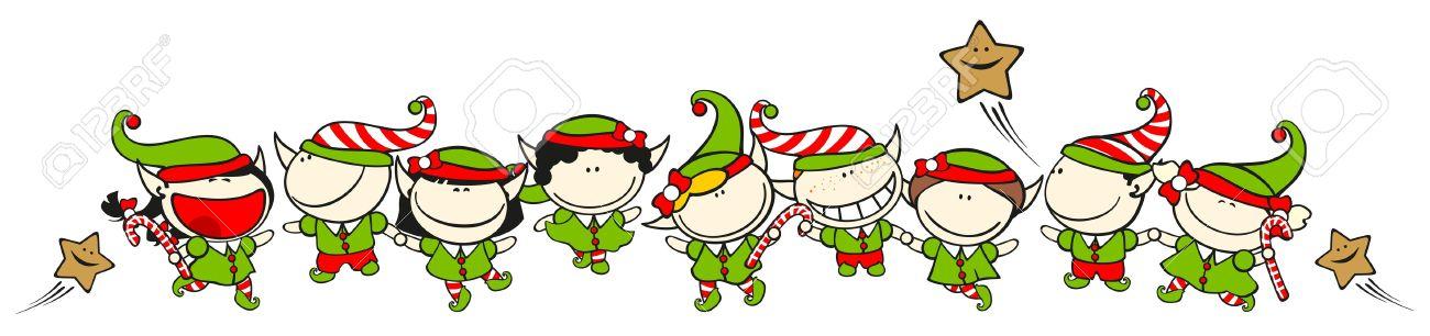 11595681-Funny-kids-60-Christmas-elves-S