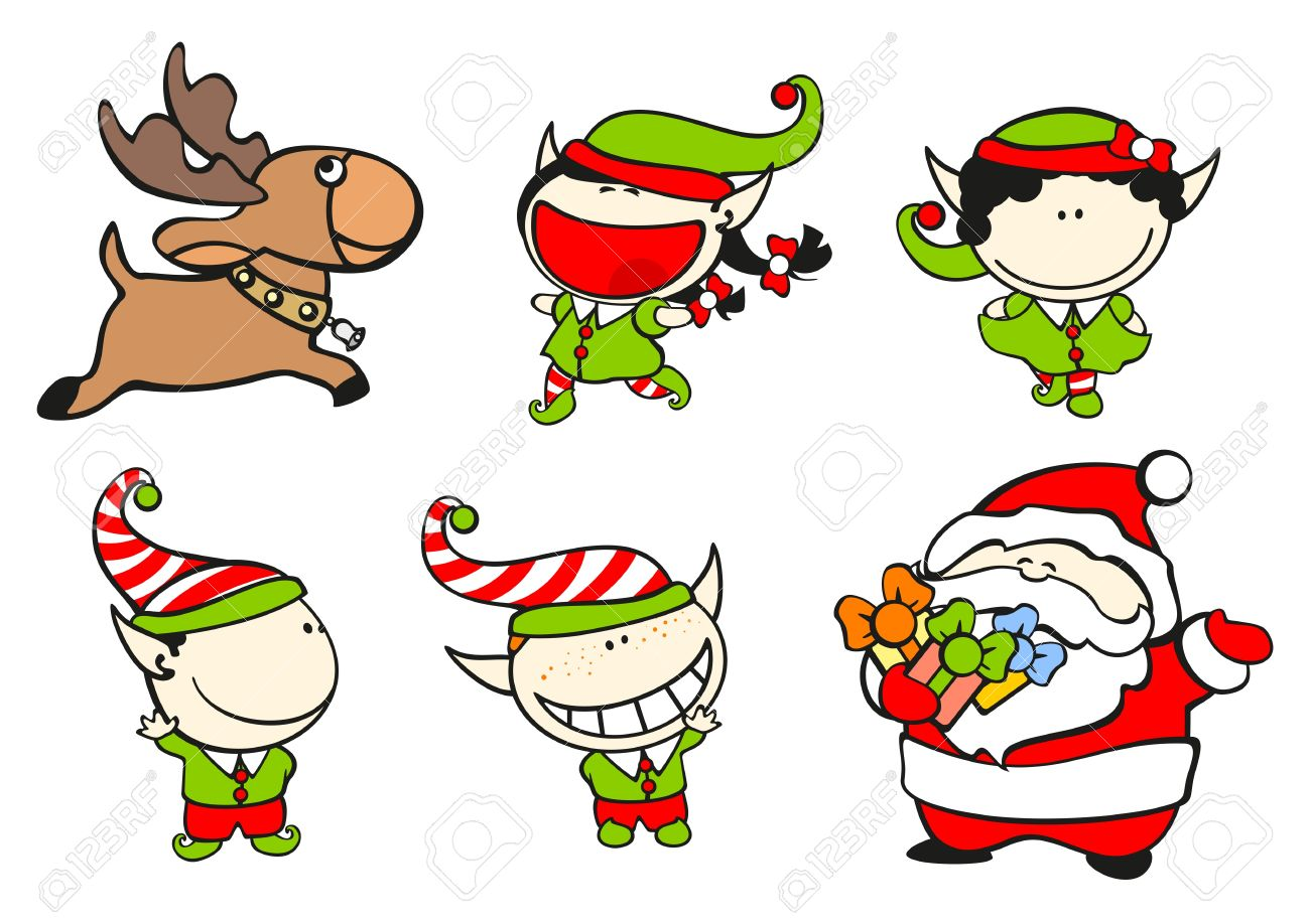 set of images of funny kids on a white background 61 santa