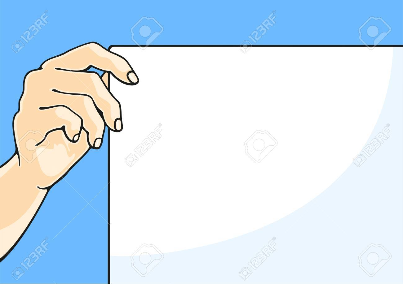 Illustration of a hand holding a paper sheet Stock Vector - 13860235