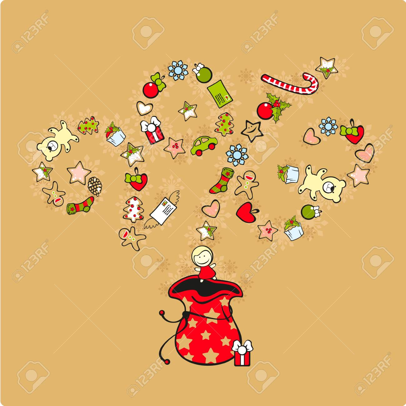 Presents for celebration New Year 2013 Stock Vector - 16899491