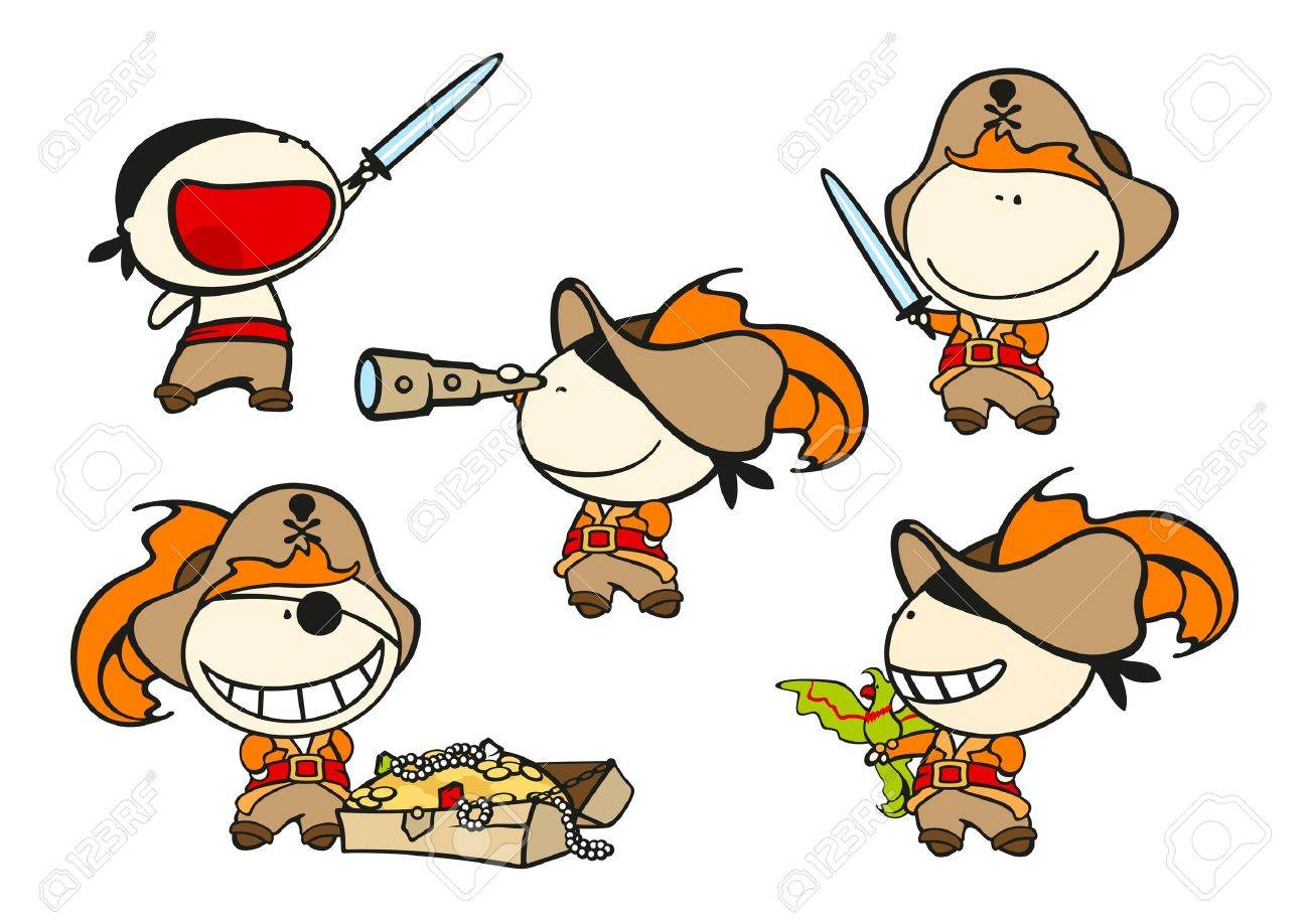 funny kids pirates royalty free cliparts vectors and stock