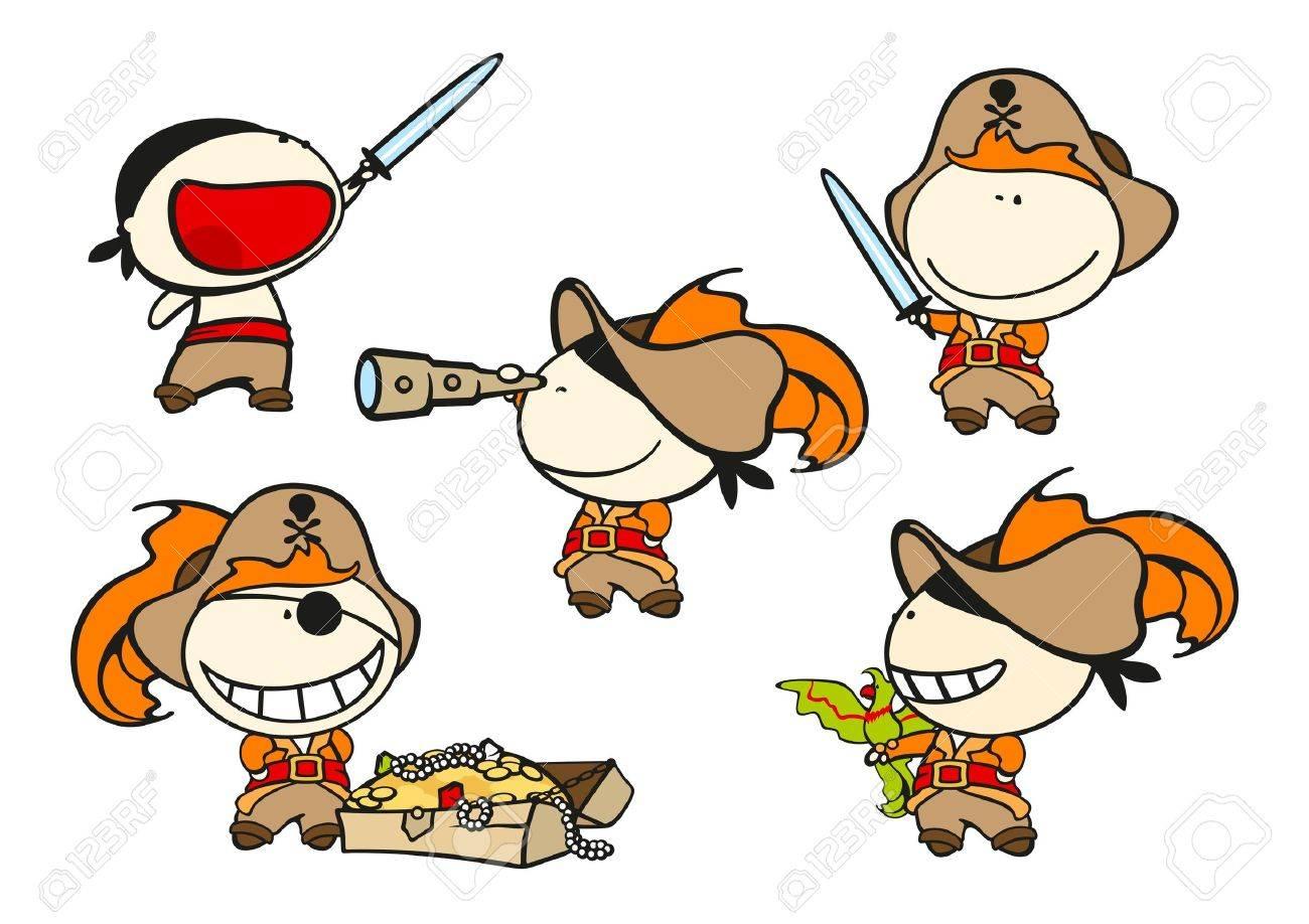 Funny kids - pirates Stock Vector - 17895335