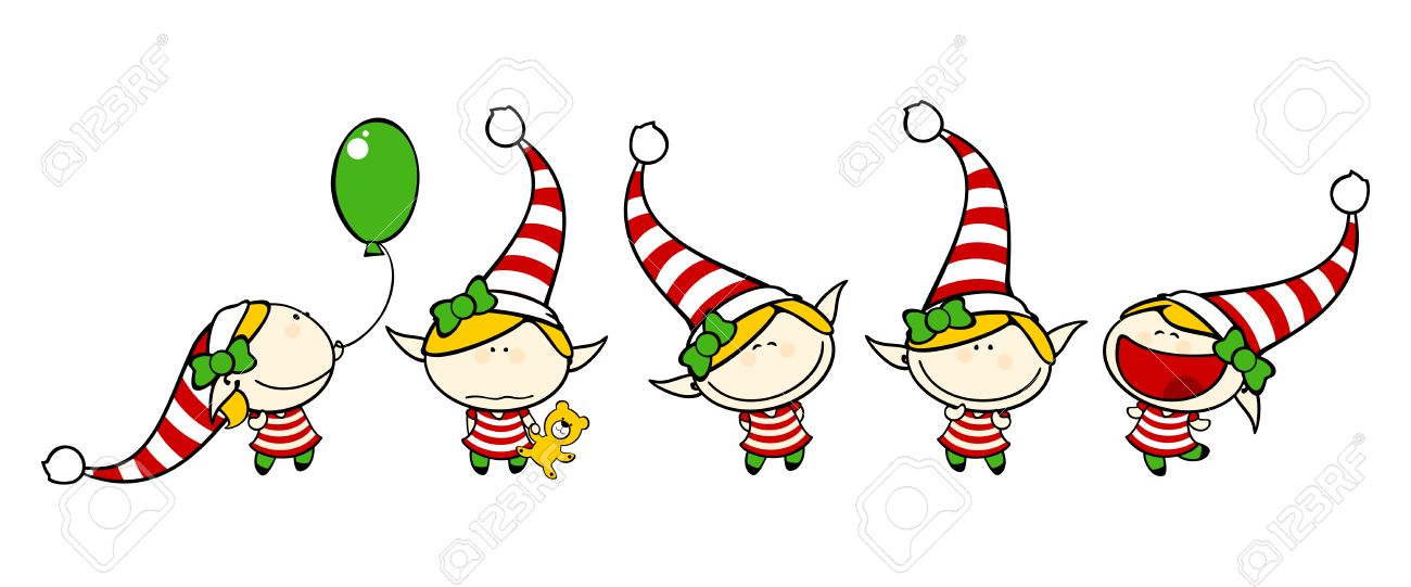 Funny kids 75 - elf girl Stock Vector - 24059706