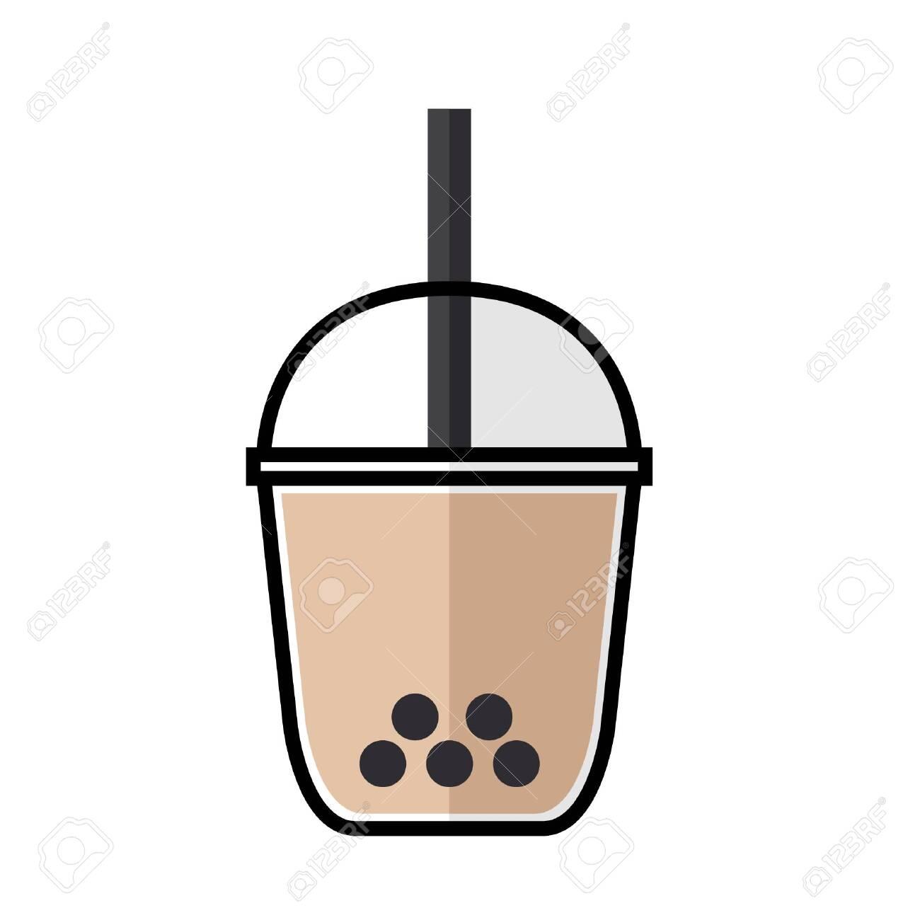 bubble tea flat icon vector royalty free cliparts vectors and stock illustration image 126510489 bubble tea flat icon vector