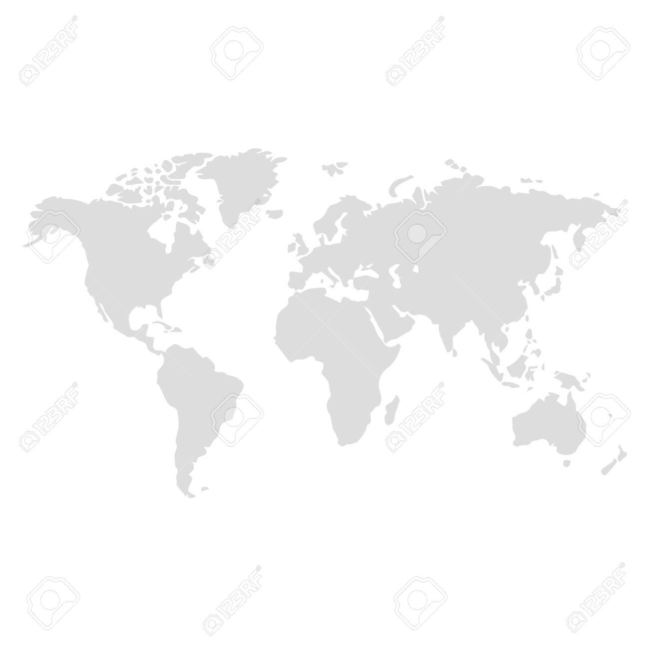 world map illustration vector - 126511445