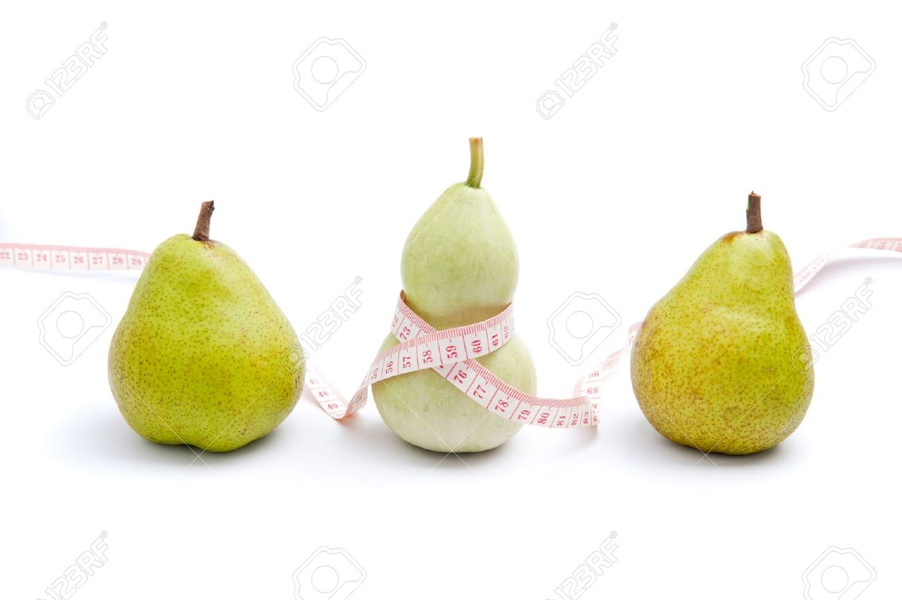Use trigonella to represent women's curvy shape and pear to represent pear shaped body - 11989847