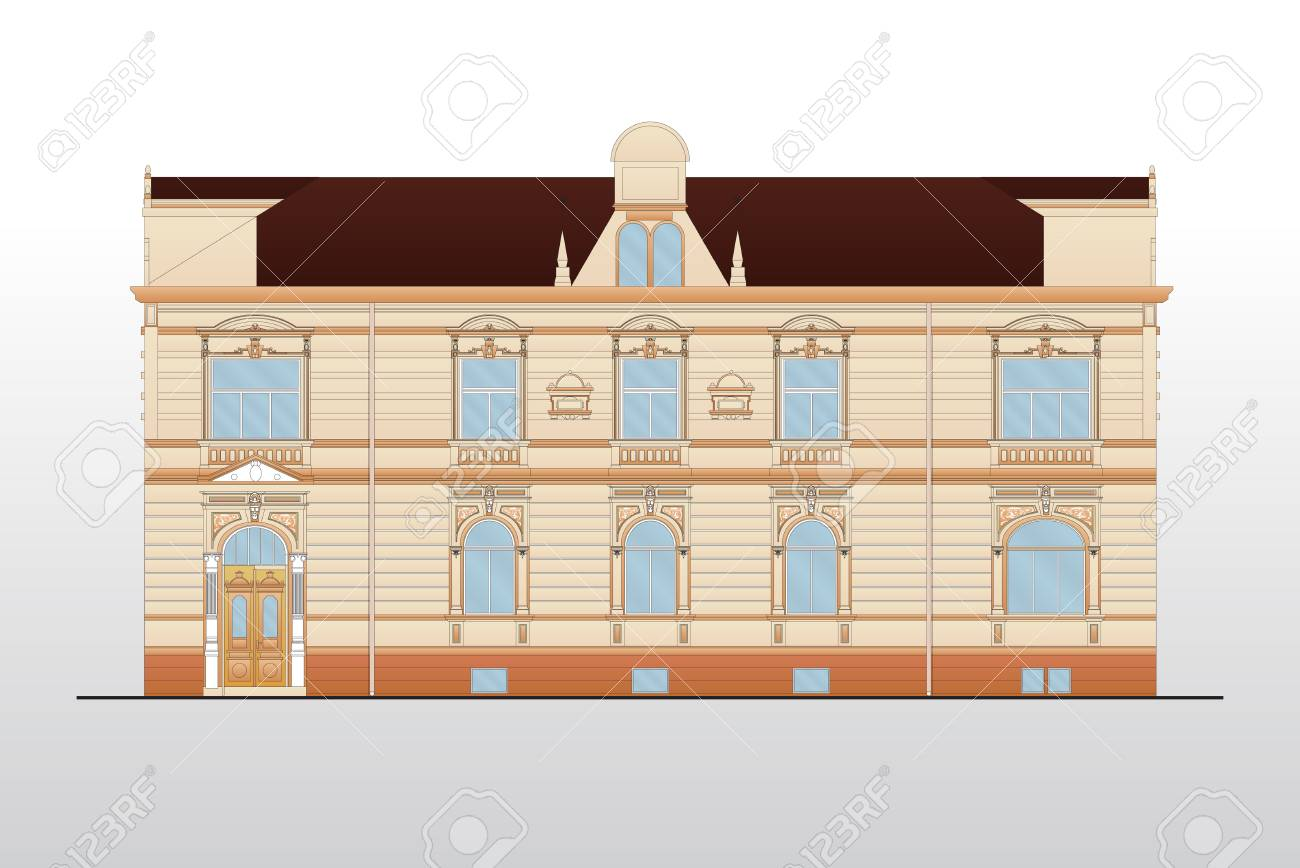 Vintage house plans Stock Vector - 9062362
