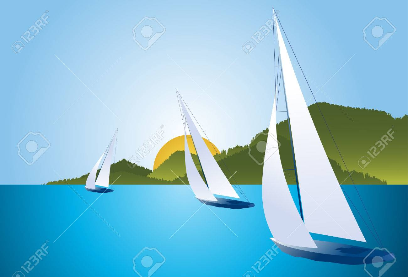 Regatta boats Stock Vector - 9062350