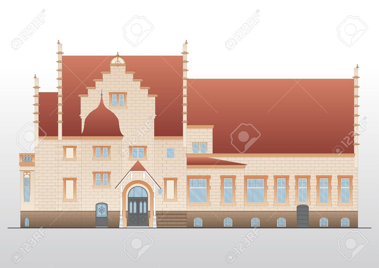 Vintage house  architecture Stock Vector - 9123449