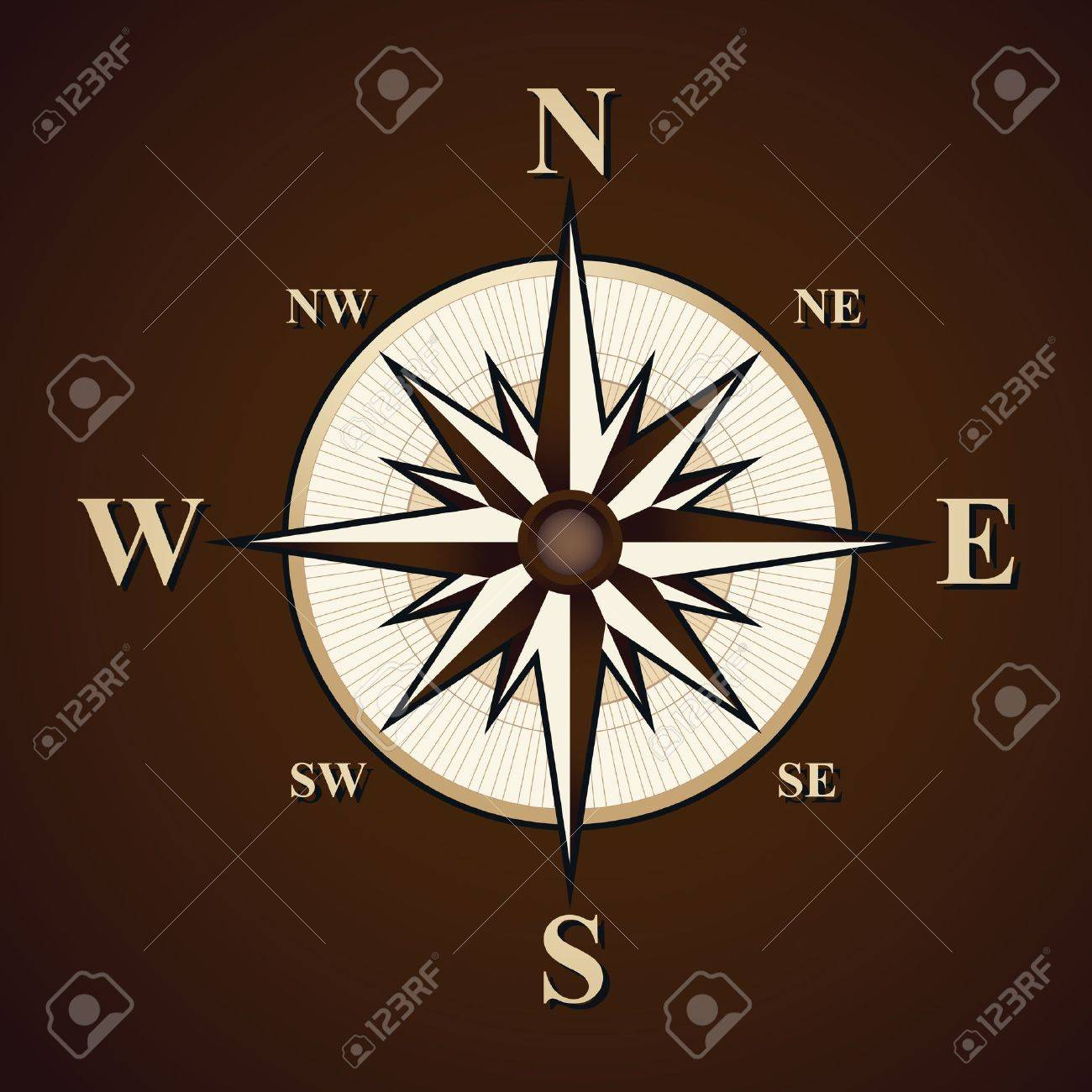 Vintage compass vector background Stock Vector - 9935004