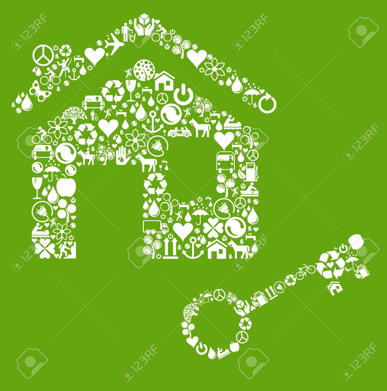 Ecology house vector concept Stock Vector - 10044163