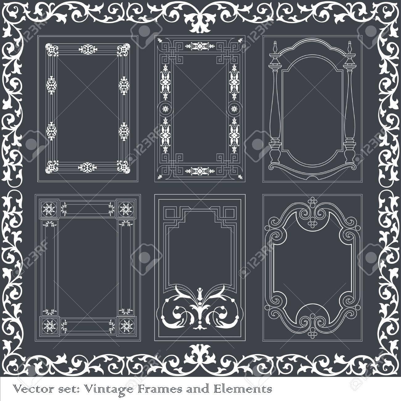 Vintage element set Stock Vector - 10267132