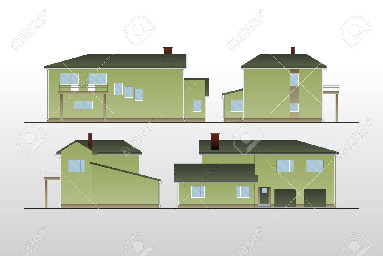 Vintage house background Stock Vector - 10314175
