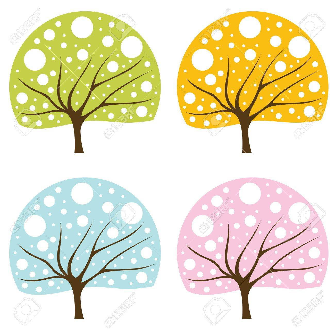 Tree set Stock Vector - 10330737