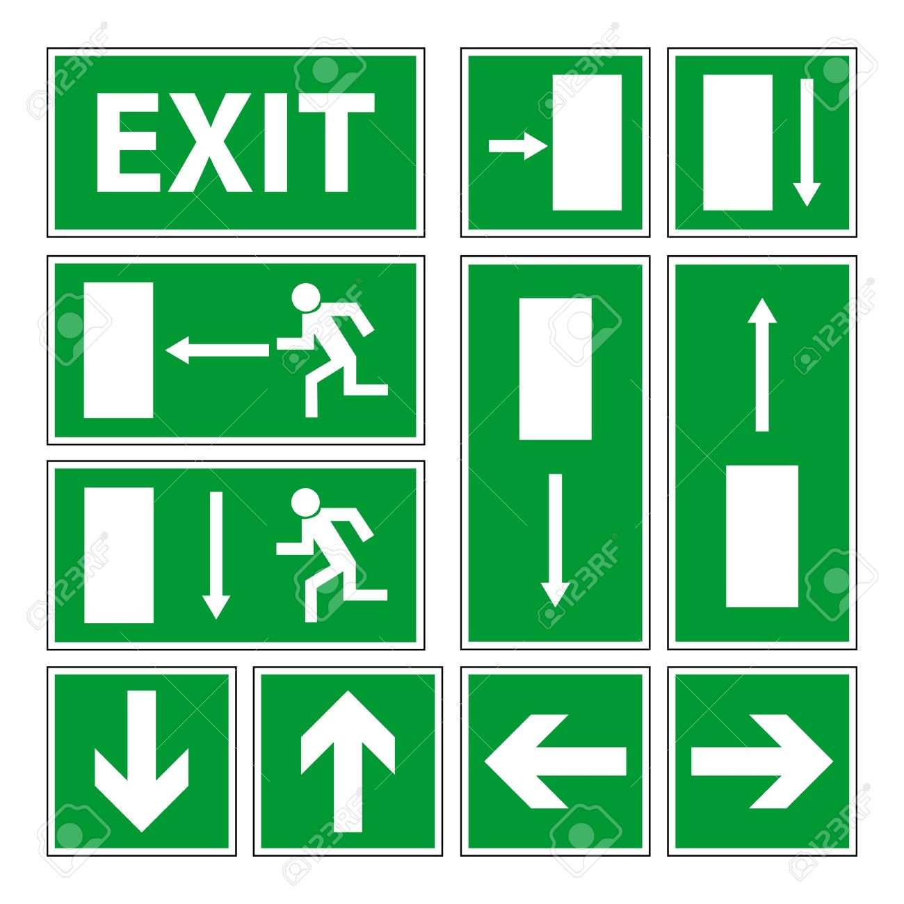 Exit signs set Stock Vector - 10330723