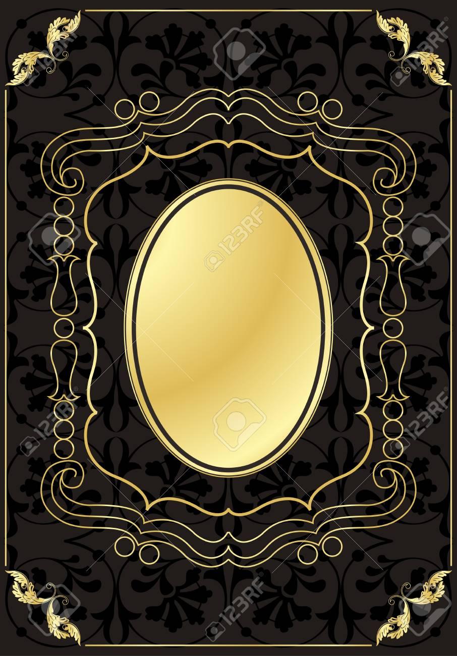 Vintage frames and elements background illustration Stock Vector - 10337202