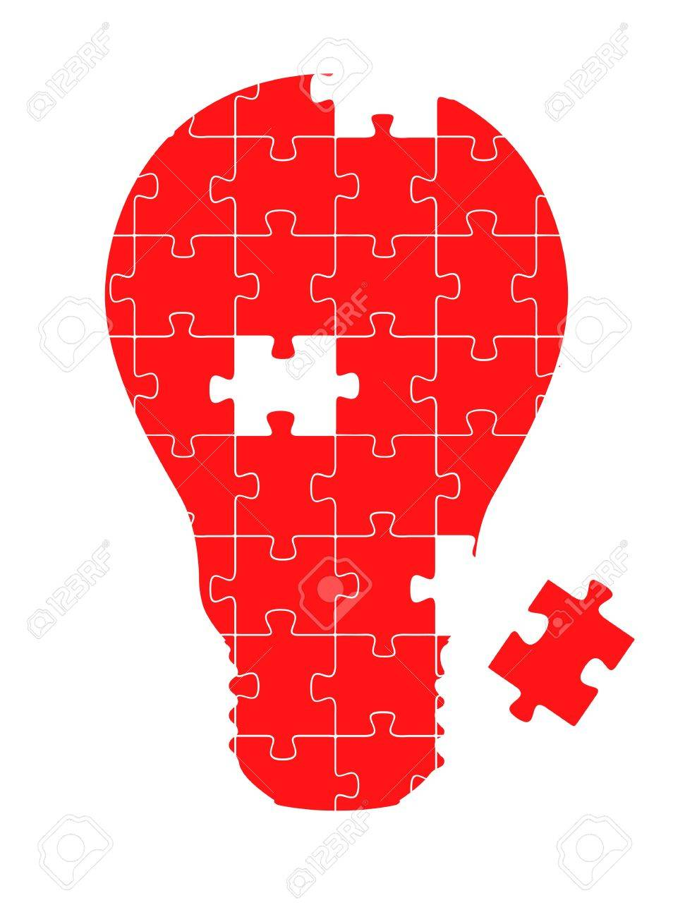 Colorful jigsaw puzzle ecology light bulb concept illustration Stock Vector - 10339163