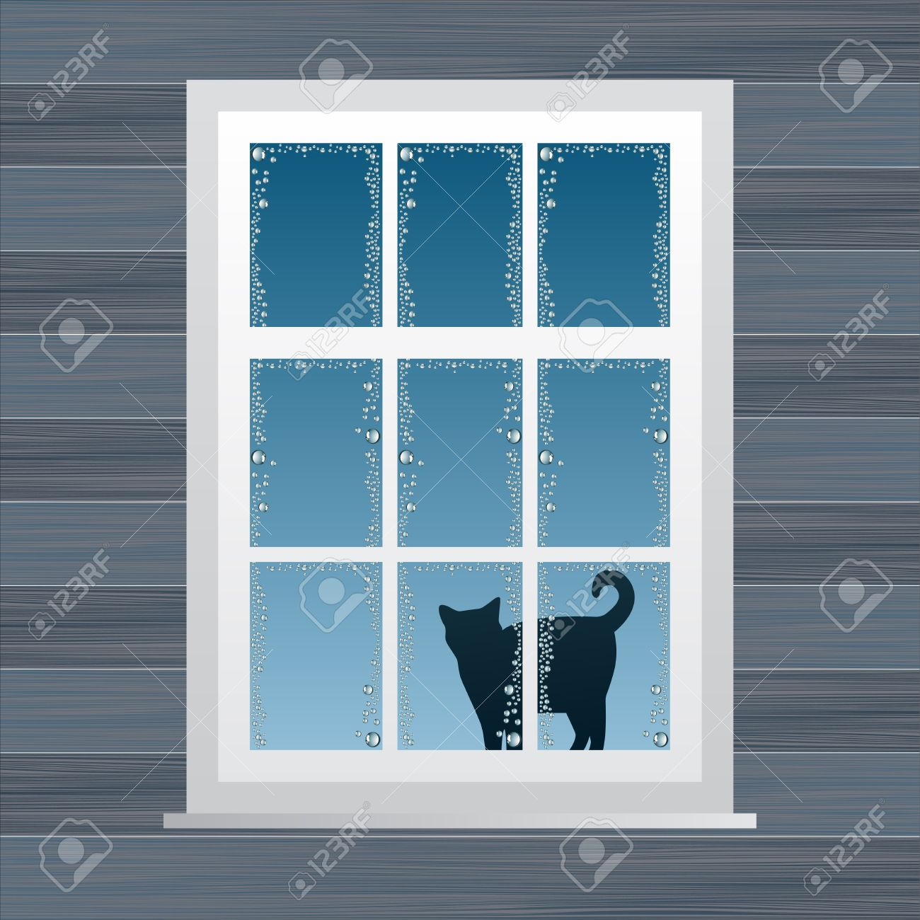 Animated Country House Window Vector Illustration Royalty Free Cliparts Vectors And Stock Illustration Image 10340153