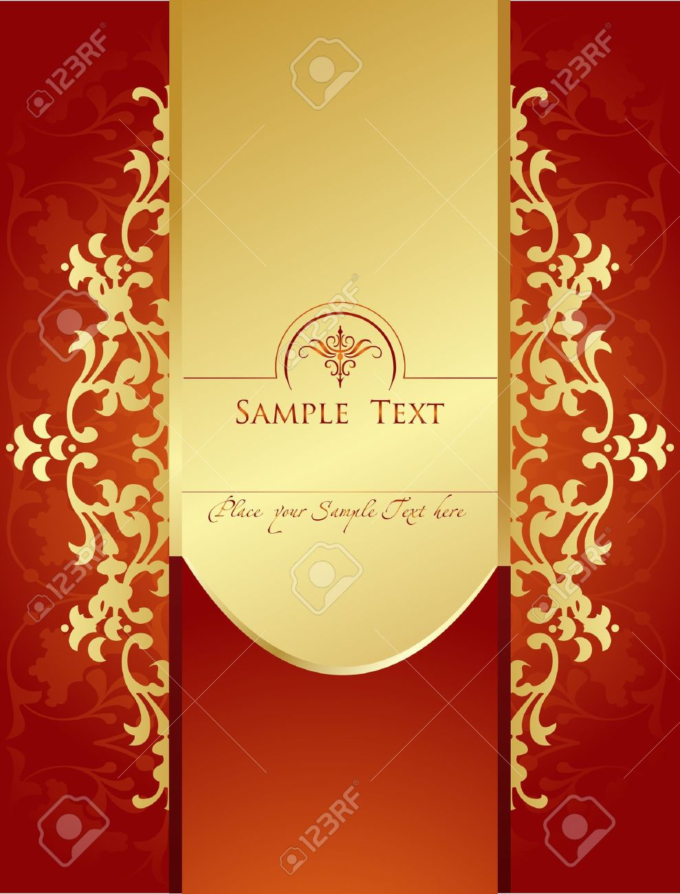 Vector Vintage background for book cover or card Stock Vector - 10339281