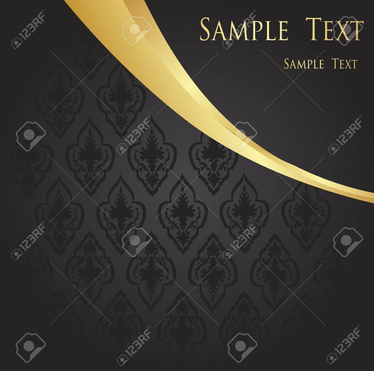 Vintage golden background Stock Vector - 10350477