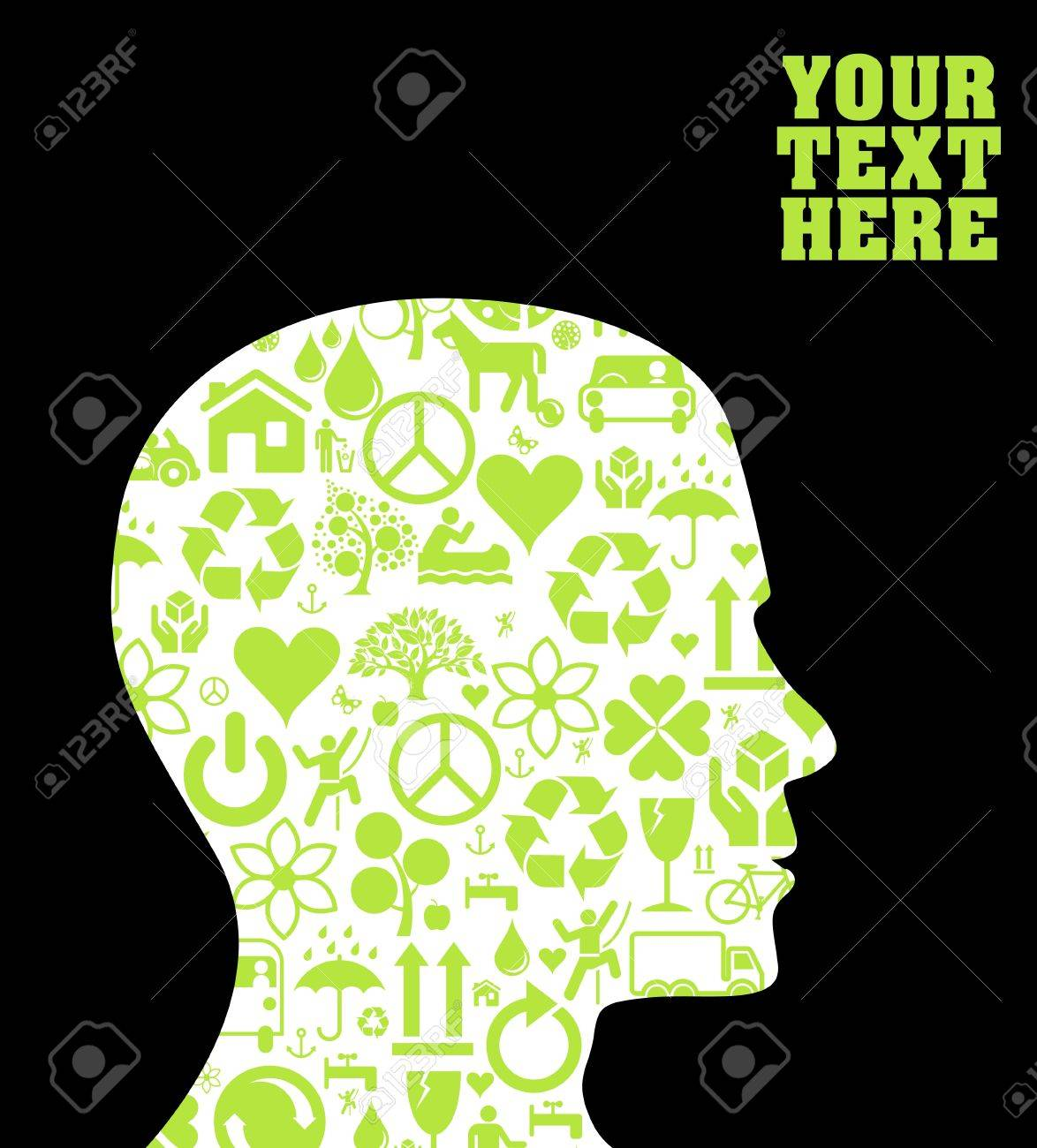Ecology head background Stock Vector - 10350634