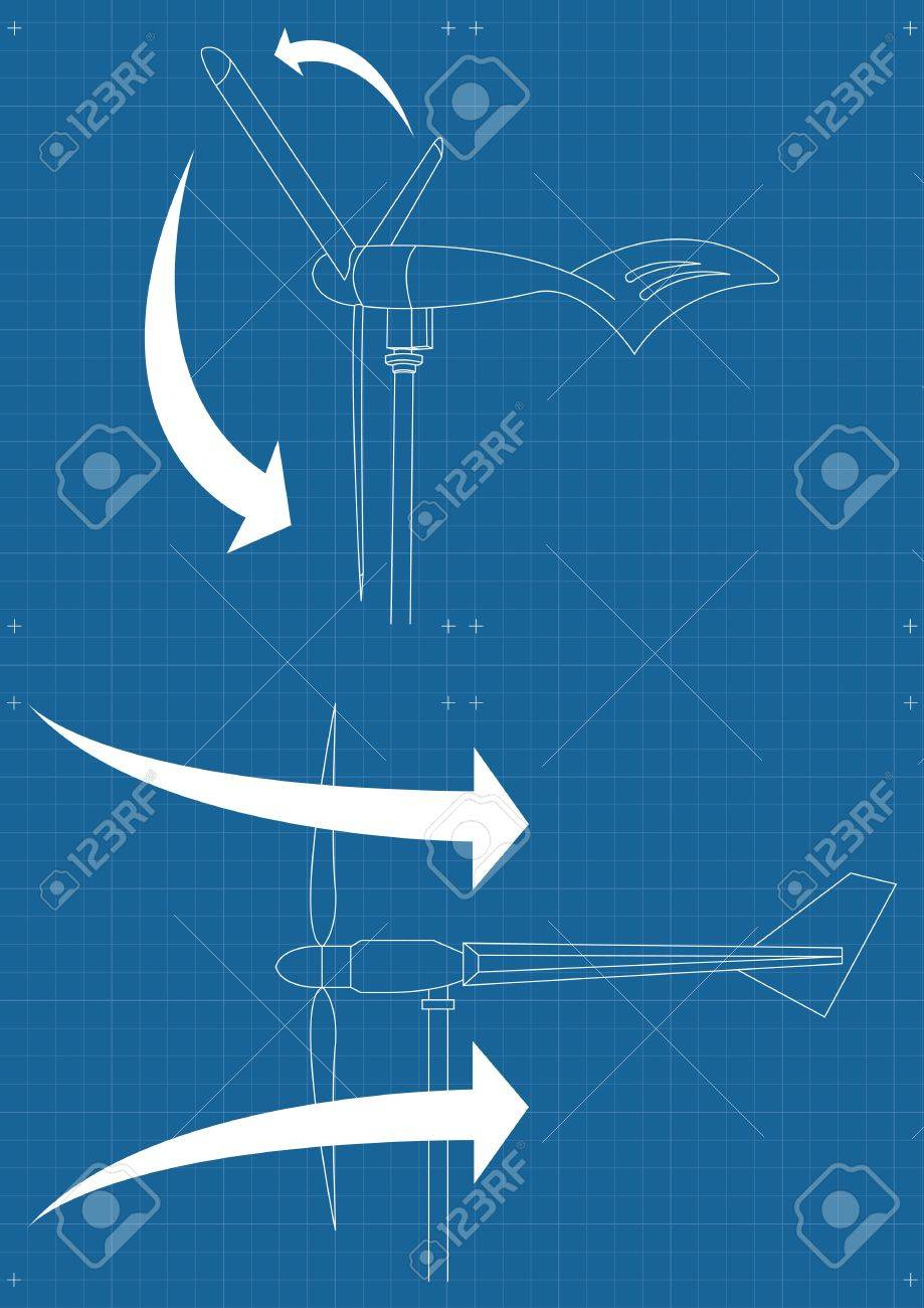 Animated wind turbines blueprint plans background illustration animated wind turbines blueprint plans background illustration stock vector 10351116 malvernweather Image collections