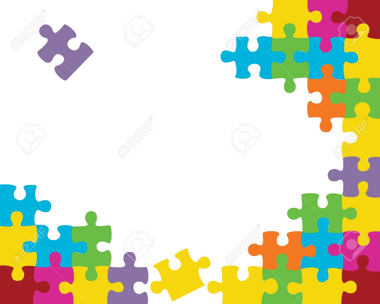 abstract jigsaw puzzle background illustration royalty free